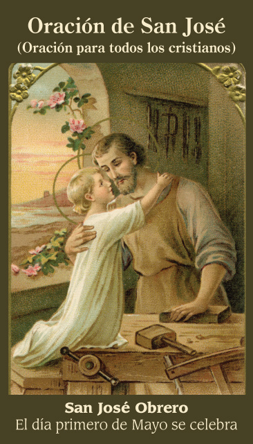 *SPANISH* Prayer of St. Joseph Holy Cards